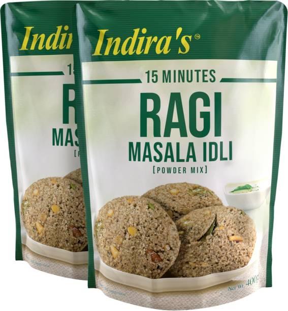 Indira Ragi Masala Idli 400g Pack of 2 800 g