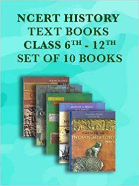 NCERT History Class 6 To 12 Text Books Set - English Medium