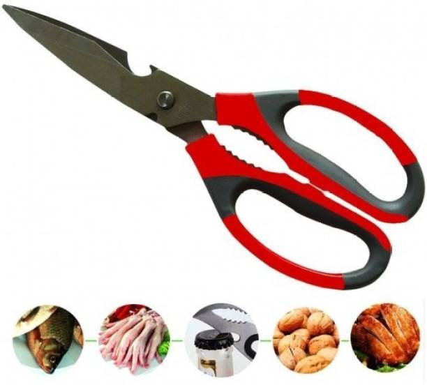 cged 1Pcs Stainless Steel Kitchen Scissors Shears Tool Using for Chicken Poultry Fish Meat Vegetables Herbs Scissors