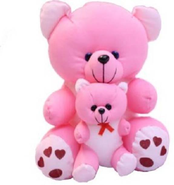 Funtoos Original Mother Teddy Premium Quality,Non-Toxic Super Soft Plush Stuff Toys for kids - 30 cm(Pink)  - 30 cm