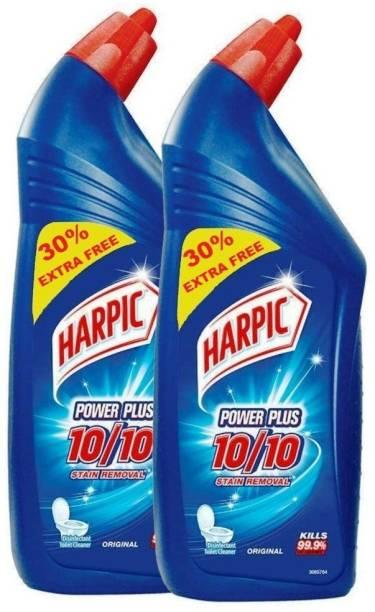 Harpic Power Plus Original Liquid Toilet Cleaner 650 + 650 ml Regular Liquid Toilet Cleaner