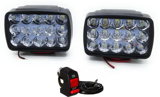 Flipkart SmartBuy Ultra Bright 15 led fog light set Fog Lamp, Headlight Motorbike, Car, Van, Truck LED (12 V, 15 W)