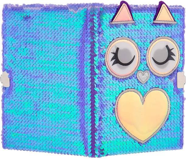 Mirada rada Owl Flip Sequin Notebook/Diary