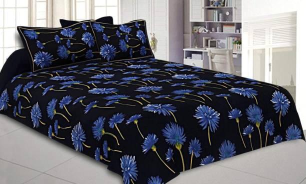 Vaibhav Cart 144 TC Cotton Double King Floral Bedsheet