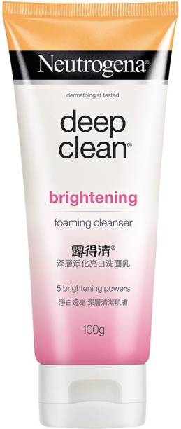 NEUTROGENA Deep Clean Brightening Foaming Cleanser Face Wash