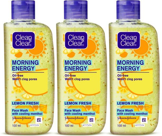 Clean & Clear Morning Energy Lemon Fresh Facewash Face Wash