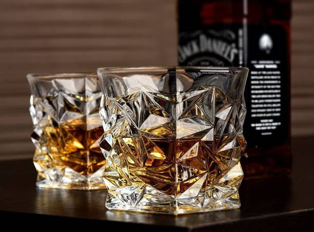 SahRash (Pack of 6) Ultra Clarity Crystal Scotch Glass, Malt or Bourbon (300 ml / 6 Pcs Set) Glass Set