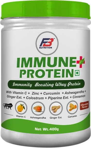 FB Nutrition Immune+Protein,Immunity Boosting Whey Protein With Vit-C,Zinc,Curcumin,Ashwagandha Protein Shake