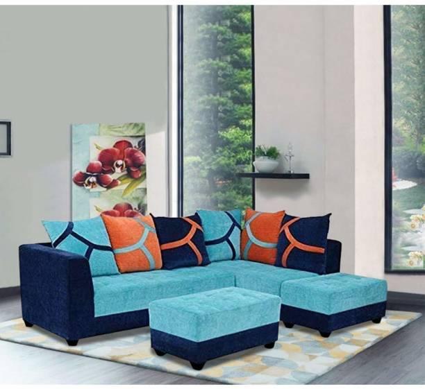 FURNY Multistyle 7 Seater RHS Sofa set Fabric 7 Seater  Sofa