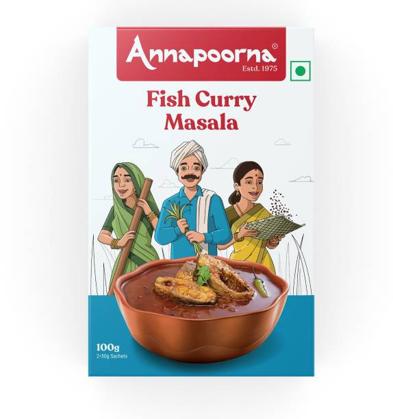 Annapoorna Fish Curry Masala 100g Carton