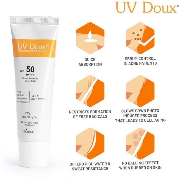 Brinton UV Doux Silicone Sunscreen Gel - SPF 50 PA+++