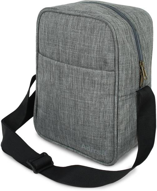 ADIRSA Canvas Insulated Lunch Bag for Office Women Men School Kids Eco Friendly Reusable & Washable/Adjustable Nylon Strap Waterproof Lunch Bag