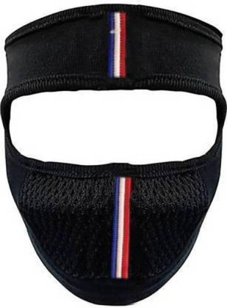 LA OTTER Black Bike Face Mask for Men & Women