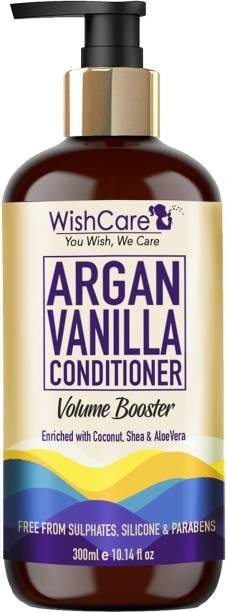 WishCare Argan Vanilla Conditioner - Volume Booster - No Parabens, Sulphates & Silicones