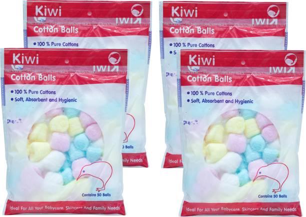 KIWI Cotton Balls (Pack of 4) (4x50 Units)