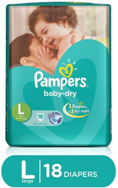 Pampers Taped Diapers - L