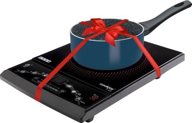 Usha CJ1600XPC Induction Cooktop (Push Button) with Sauce Pan