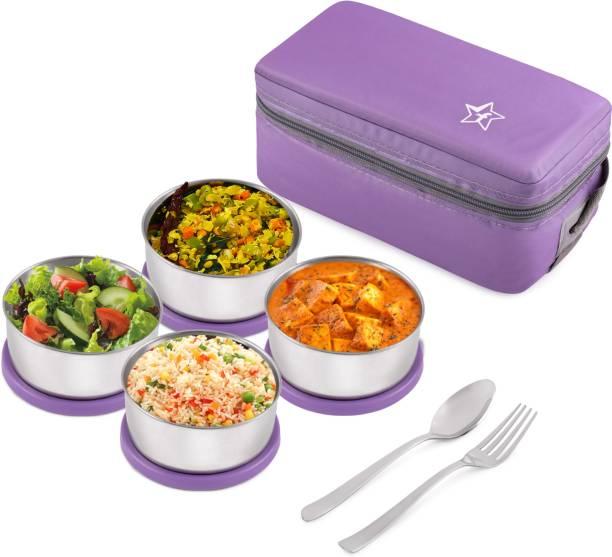 Flipkart SmartBuy 4 Pcs Steel LunchBox 4 Containers Lunch Box