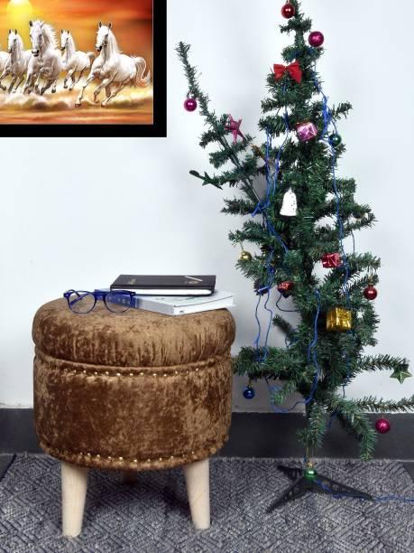 Kridhay Natura Life Solid Wood Standard Ottoman