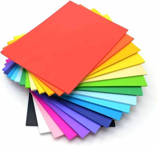BVM GROUP 60 Sheet Multicolor , Standard Unruled A4 Coloured Paper for Multipurpose use