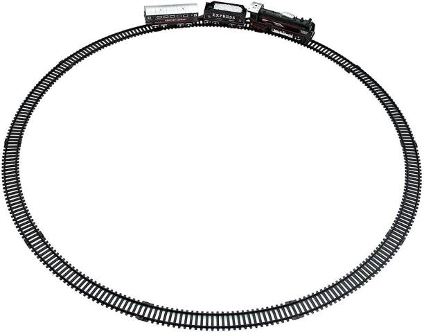 R K GIFT GALLERY Express Train and Track Set (Black)