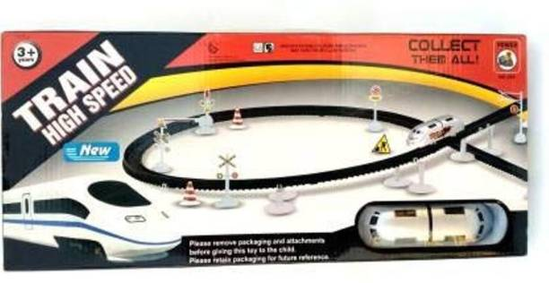 R K GIFT GALLERY Train Toy Set with Flyovers Track (Multicolor)