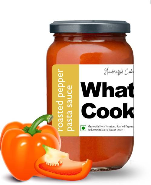 What's Cooking Roasted Pepper Authentic Italian Red Pasta Sauce Pizza Sauce Dressing (Homemade, Gourmet, Ready to Cook) 300ml Sauce