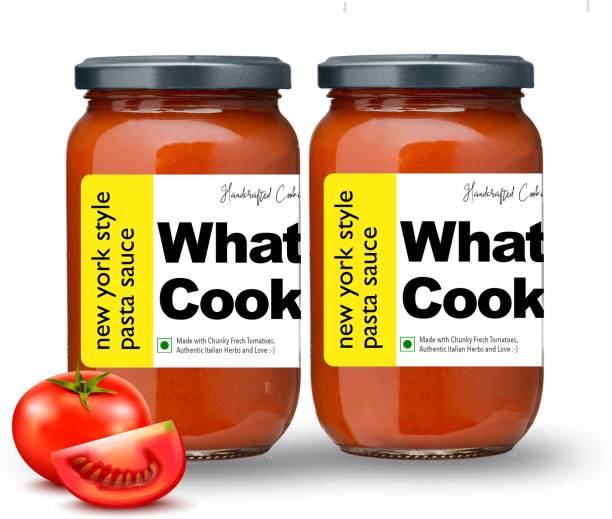 What's Cooking New York Style Authentic American Red Pasta Sauce Pizza Sauce Dressing (Homemade, Gourmet, Ready to Cook) 300ml (Pack of 2) (2 X 300ml) Sauce
