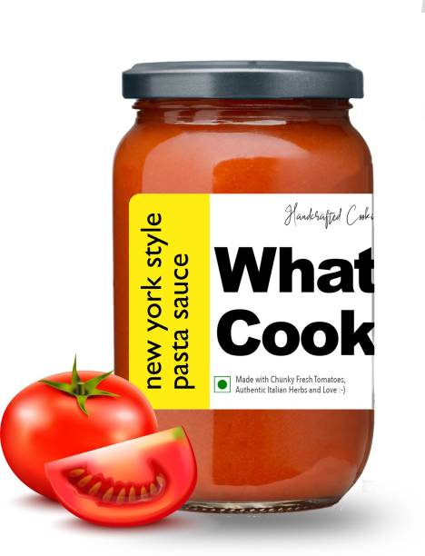 What's Cooking New York Style Authentic American Red Pasta Sauce Pizza Sauce Dressing (Homemade, Gourmet, Ready to Cook) 300ml Sauce