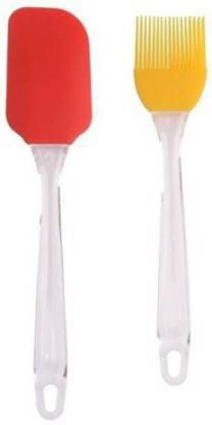 PRAMUKH Spatula and Brush Plastic Flat Pastry Brush