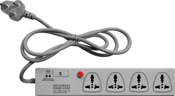 MX Universal Surge Protector With Switch, Power Indicator, Fuse & Power indicator - 1.5 Mtr 4  Socket Extension Boards