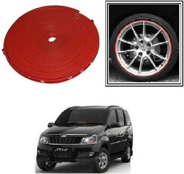 ACCESSOREEZ Alloy Wheel Edge Rim Protectors RTRX284 Tyres Guard Rubber Moulding-RED Wheel Cover For Universal Car (14.5 cm) Wheel Cover For Universal For Car Universal For Car