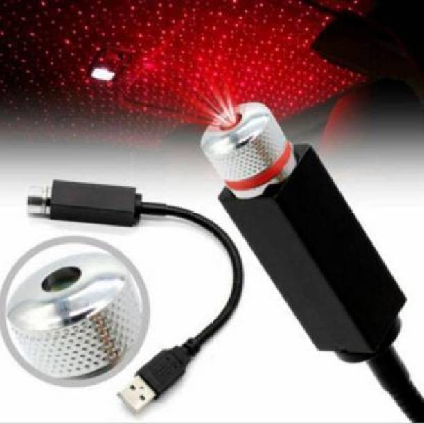 Hiccup LED Car Atmosphere Lamp, 360 degree Rotation Use for USB Disco Light / Night Light / Room / Car / Party Decoration Disco Laser Car Fancy Lights, Car Roof Full Star Projection Car Fancy Lights Portable Decorations Lamp for Bedroom, Car, Party, Camping, Walls Decorative Led Light (Multicolur)00001 USB_L_000098_Star Light USB_L_000098_Star Light Led Light Car Fancy Lights