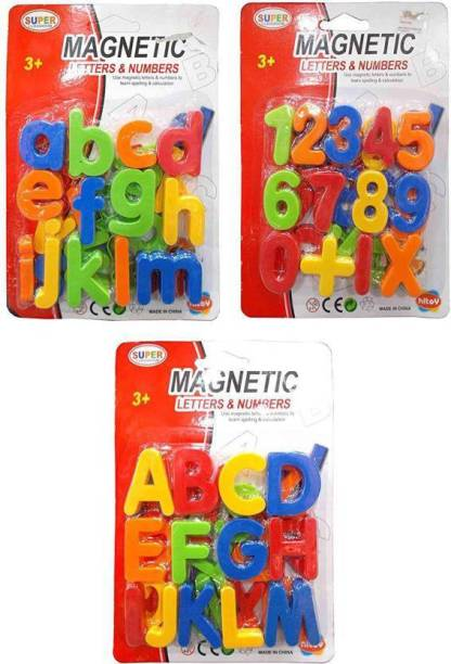 Psr BEST Magnetic Learning Alphabets ABCD,123&abcd kids
