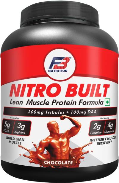 FB Nutrition NITRO BUILT Lean Muscle Protein with Tribulus DDA,BCAA,Arginine,Creatine,Glutamine Weight Gainers/Mass Gainers