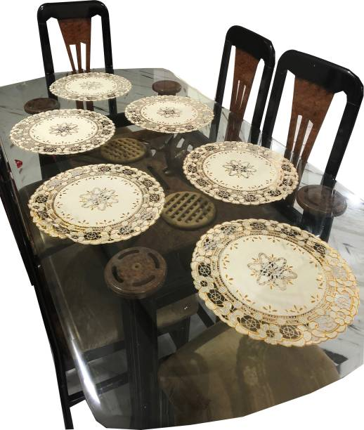 LaVichitra Round Pack of 6 Table Placemat