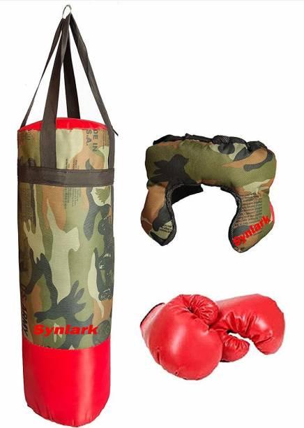 moreyaji Boxing Kit with Punching Bag for Kids 3 to 9 Years (Punching Bag, Gloves and Headgear) Boxing