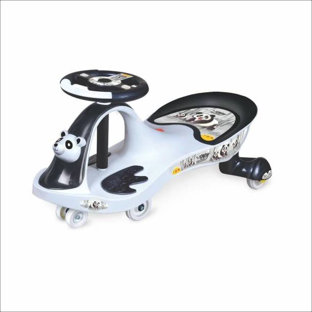 DnDark Baby Panda Kids Magic Car/Swing Car Ride On -Multicolour Rideons & Wagons Non Battery Operated Ride On