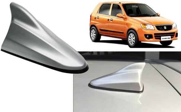 Auto Kite Silver Shark Fin Replacement Signal (AM/FM)Receiver Antenna For Alto K10 Old Hidden Vehicle Antenna