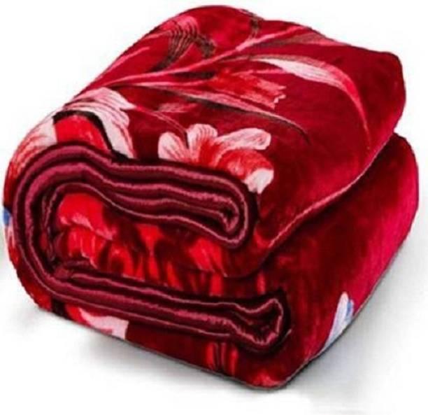 GKM Floral Double Mink Blanket