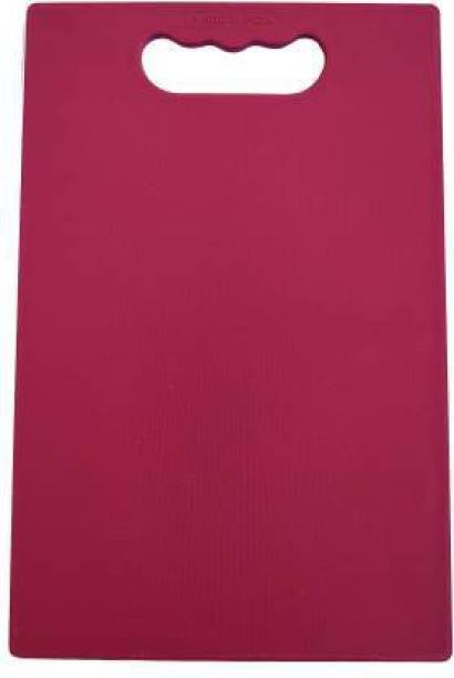 London Paree Fruit and Vegetable Chopping Board Plastic Cutting Board (Maroon Pack of 1) Plastic Cutting Board
