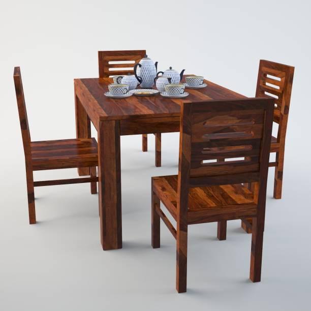 Allie Wood Sheesham Wood Solid Wood 4 Seater Dining Set