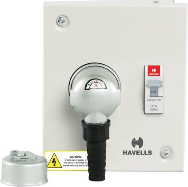 HAVELLS DHDPUSN020 Utility DB P/S 20A SPN Metal Plug and Socket Distribution Board (Grey) DHDPUSN020-Pk1 MCB
