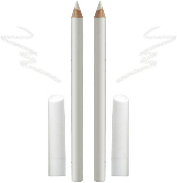 HGCM BEST SOFT NEW WHITE PENCILS COLORFULL KAJAL FOR WHITE EYES PACK OF 2