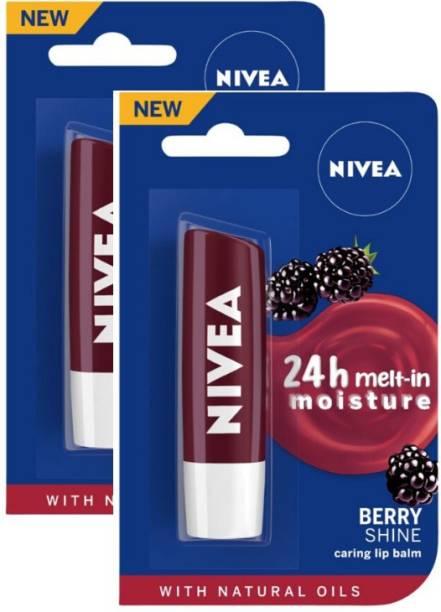 NIVEA Blackberry Fruity Shine Lip Balm Blackberry