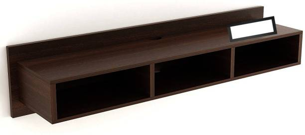 Trendal StyleWud Wall Tv Entertainment Unit Sky with Set top Box Stand Ideal for Bedroom, LivingRoom - Organize Your Messy Room Wooden Wall Shelf
