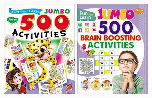 Fun & Learn 500 Activities, Fun And Learn Jumbo 500 Brain Boosting Activities | Set Of 2 Books
