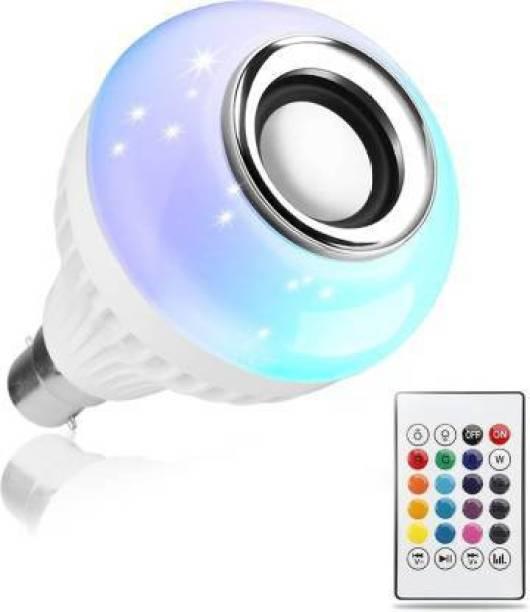 VISHWANTHA Color Changing LED Light Music Bulb with Bluetooth Speaker & Remote Smart Bulb Smart Bulb