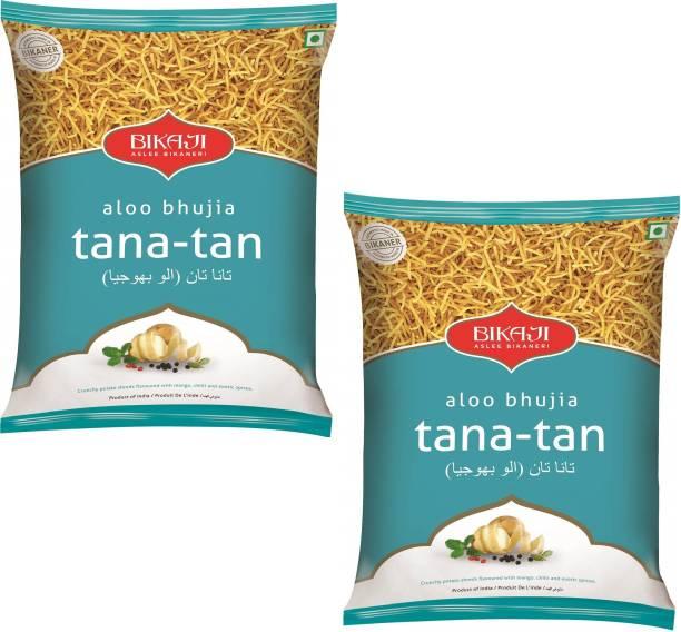 Bikaji Aloo Bhujia Tana-Tan Snack, 400 g- Pack of 2