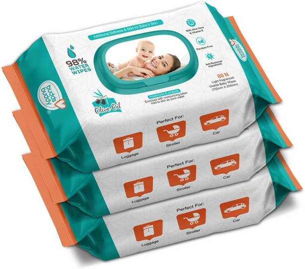 Buddsbuddy Baby Cleansing Water Baby Wet Wipes with lid